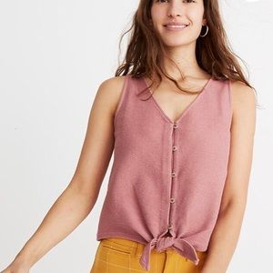 Madewell Texture & Thread tie front tank